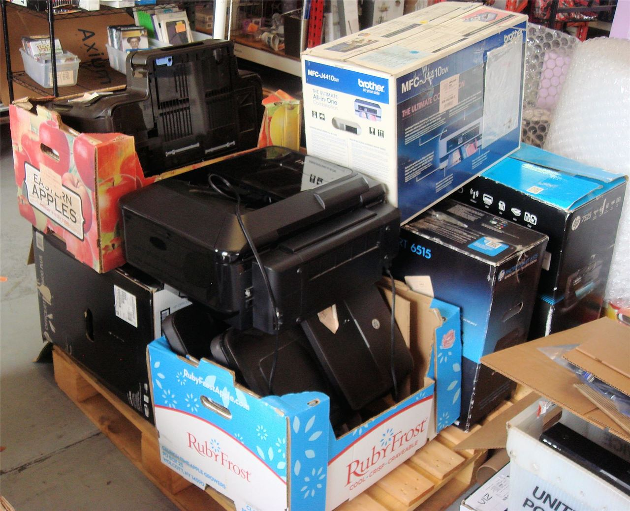 Wholesale Pallet of Customer Return Untested Printers Manifested