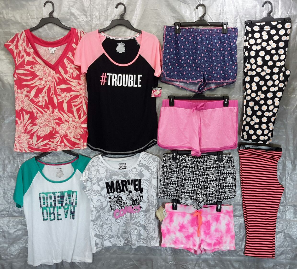 Wholesale Lot of 100 Assorted Sleep Tops bottoms PAJAMAS Sleepwear Womens Mixed Sizes