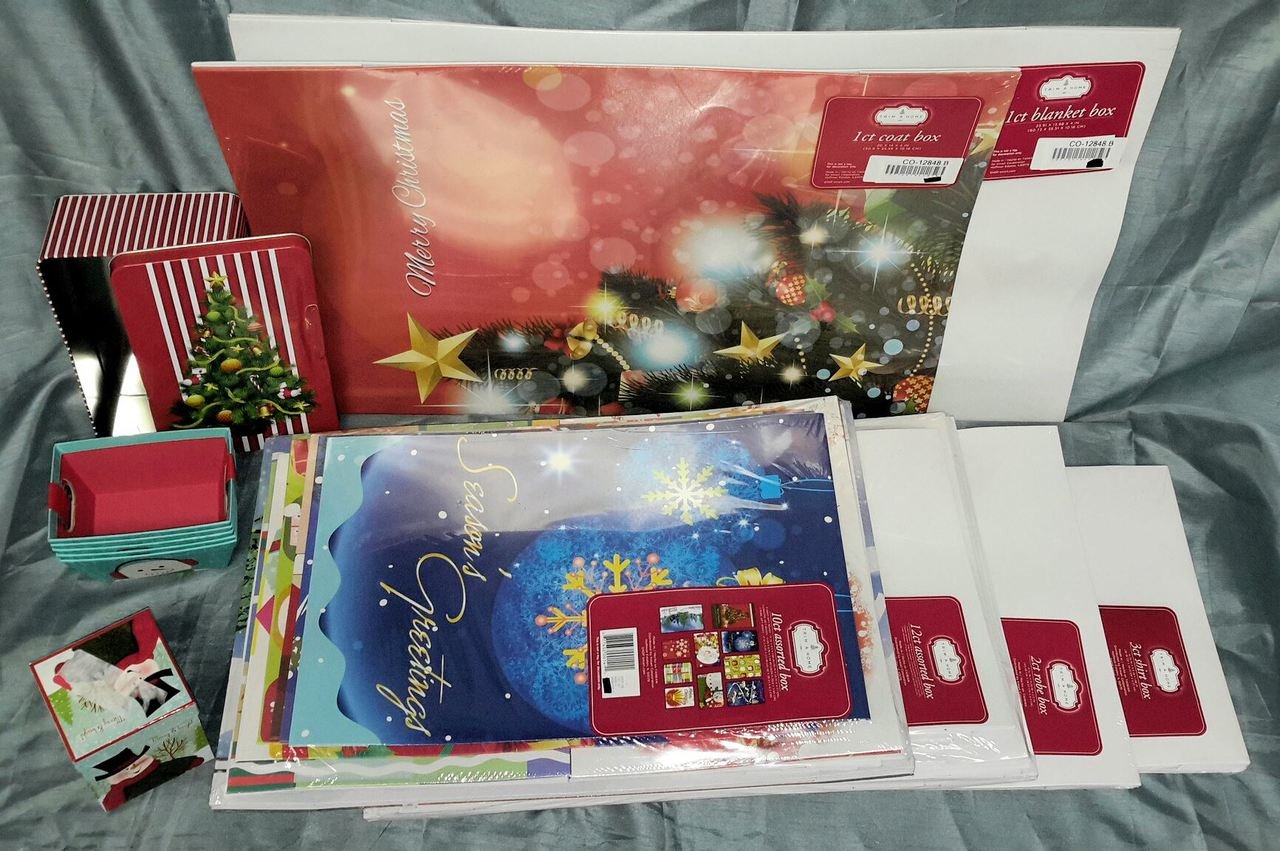 Wholesale Resale Lot of 43 Holiday Christmas Gift Boxes SHIRT Boxes Brand New