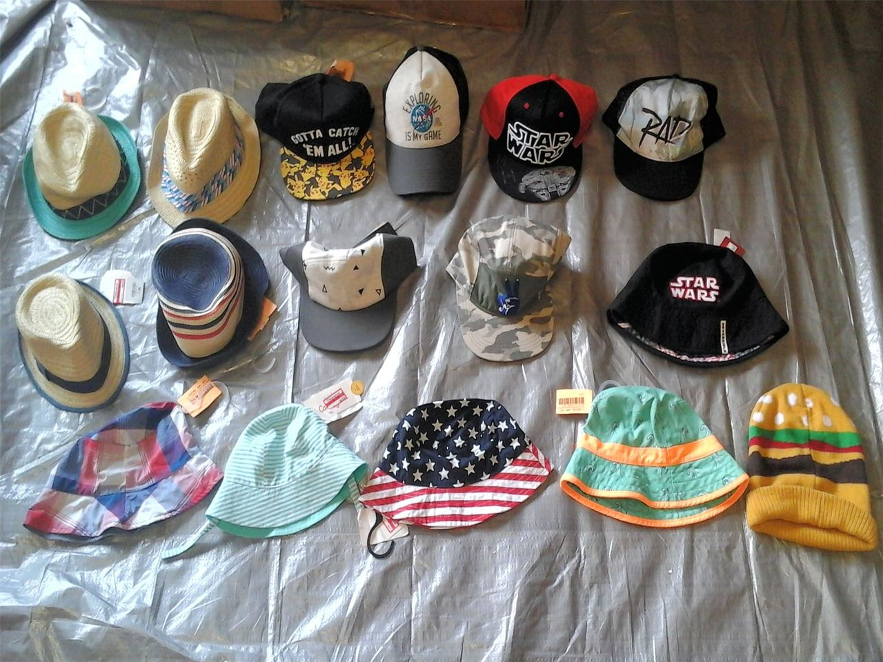 Wholesale Lot of 85 Children Infant Toddler Boy Girl HATs Caps Brand New