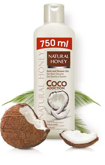 Wholesale Case of 12 Revlon Natural Honey Coco Addiction Gel de Ducha BODY Wash