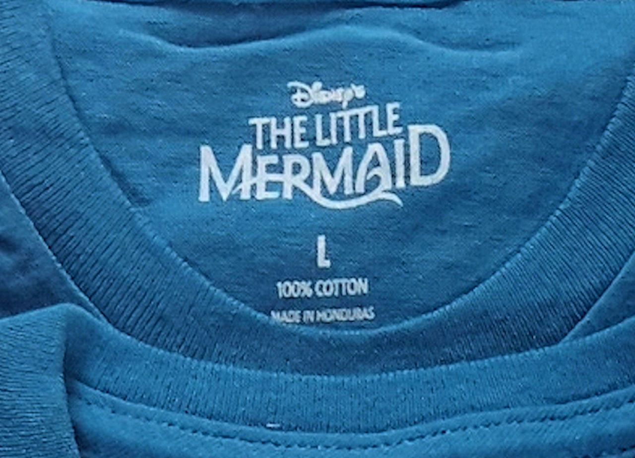 Wholesale Lot of 137 DISNEY My Little Mermaid Blue T-shirts Mixed Kid Children sizes manifested Bran