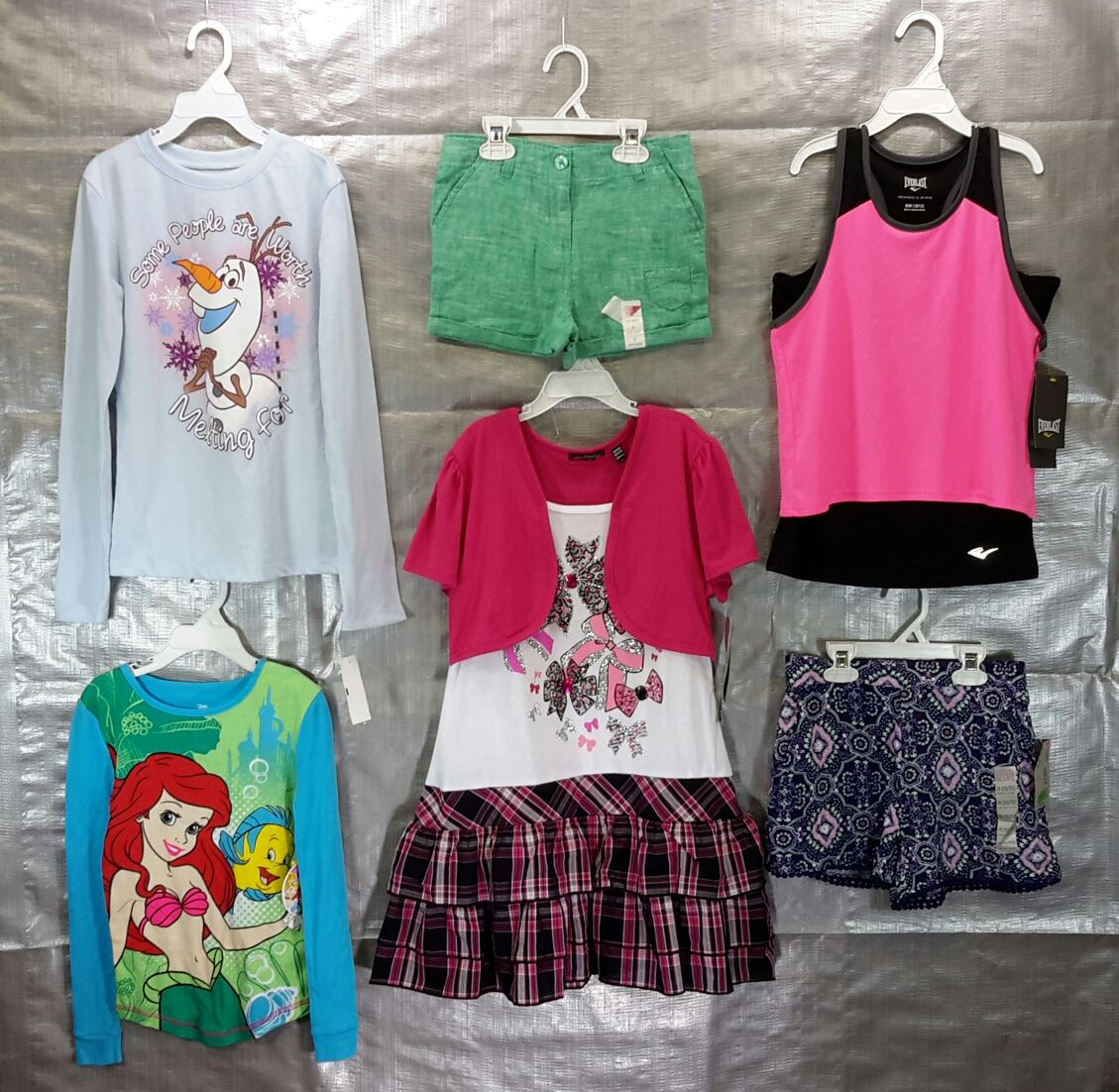 Wholesale Sample Lot of Assorted Brand New Children's GIRL CLOTHING 50 Pieces