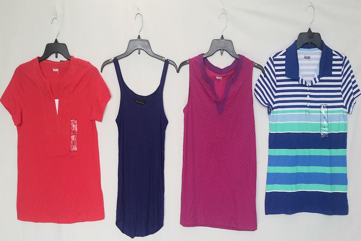 Wholesale lot of 100 Brand New S-L Tops Only Womens CLOTHING