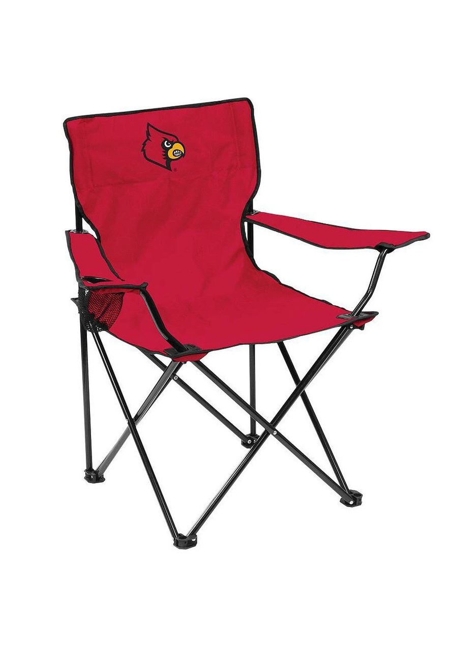 Wholesale Lot of 6 NCAA Louisville Cardinals Portable Quad Camping Tailgate Chair Brand New