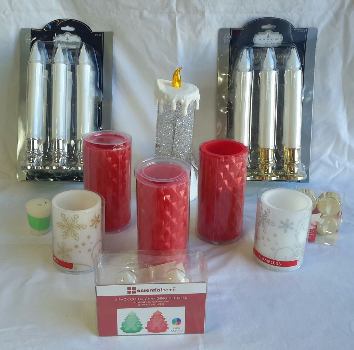 Wholesale Resale Lot of Holiday Christmas CANDLEs Mixed Styles Sizes Brand New LED