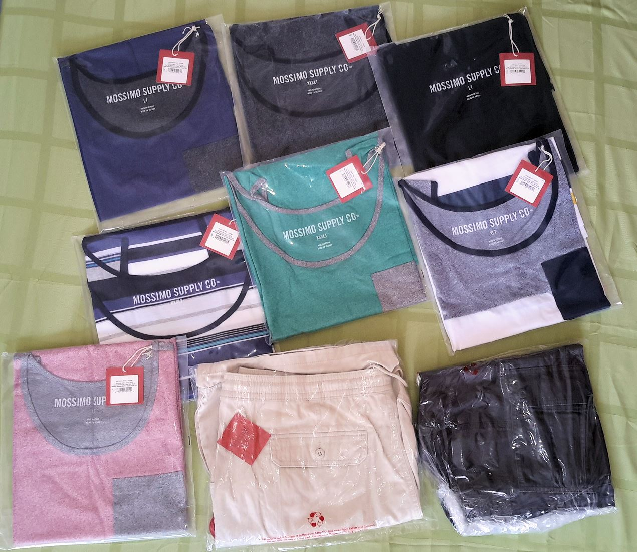 Wholesale Lot of 100 Mens Clothing Cargo Shorts TANK TOPs Mixed Sizes Brand New Overstock