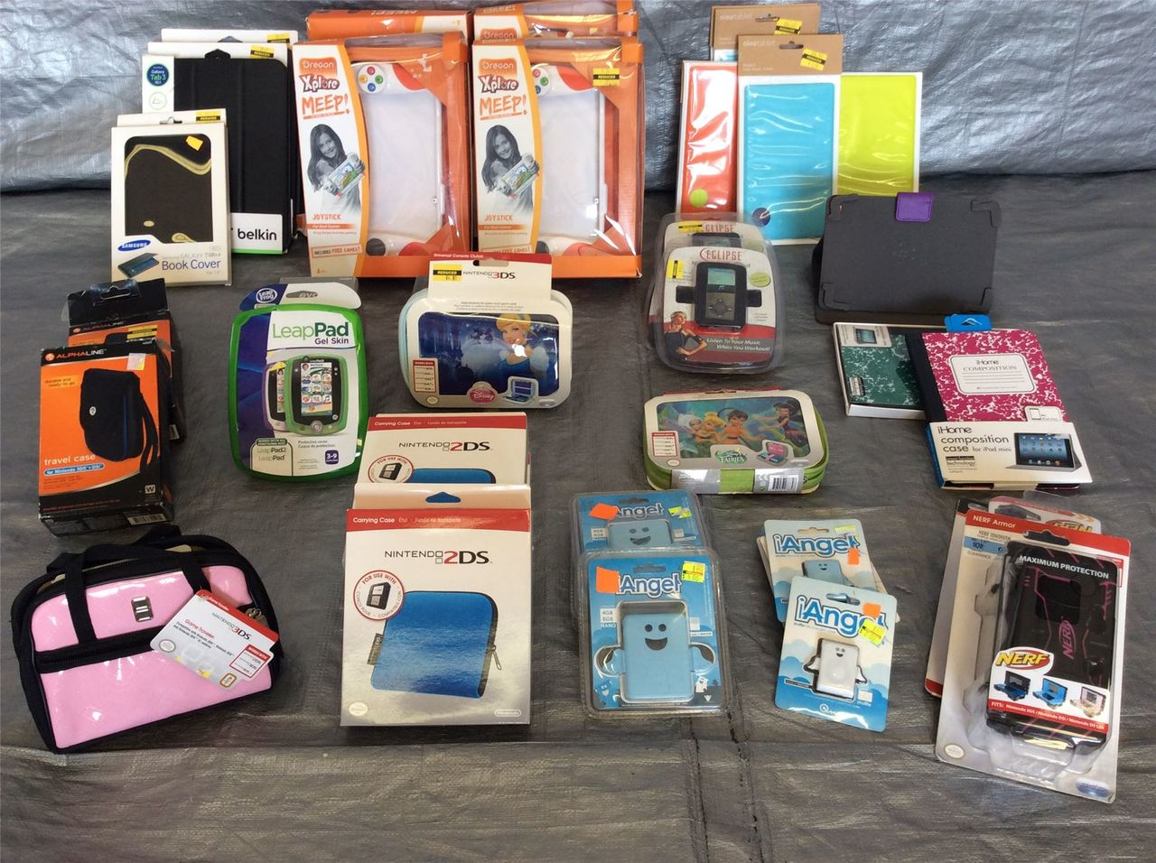 ''Wholesale Lot of Assorted Carrying Cases For Assorted Game Consoles, Approx 30 PCS''