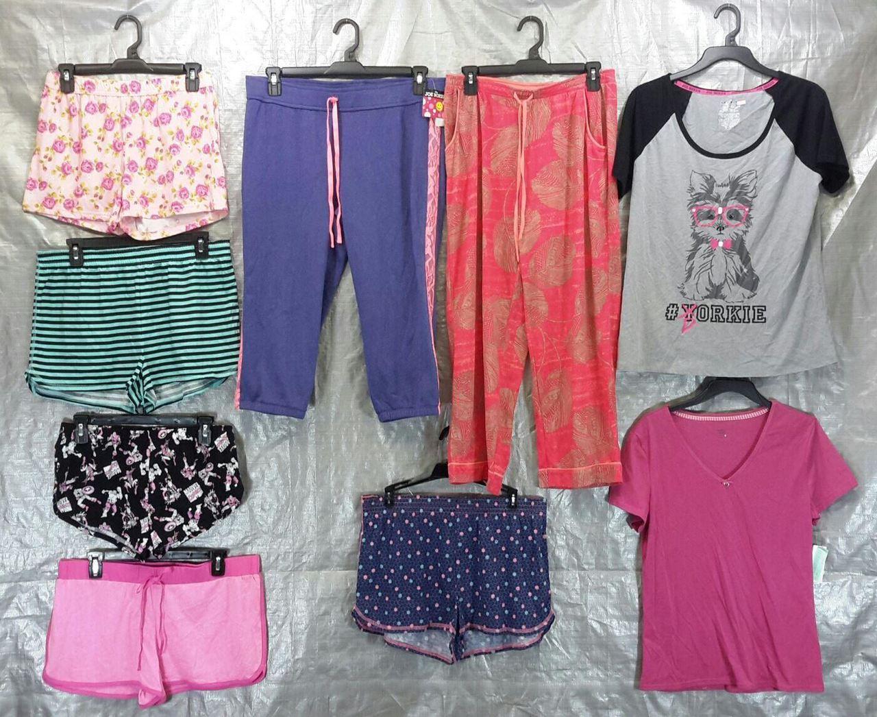Wholesale Lot of 50 Assorted Sleep Tops Bottoms PAJAMAS Sleepwear Womens S-L Sizes