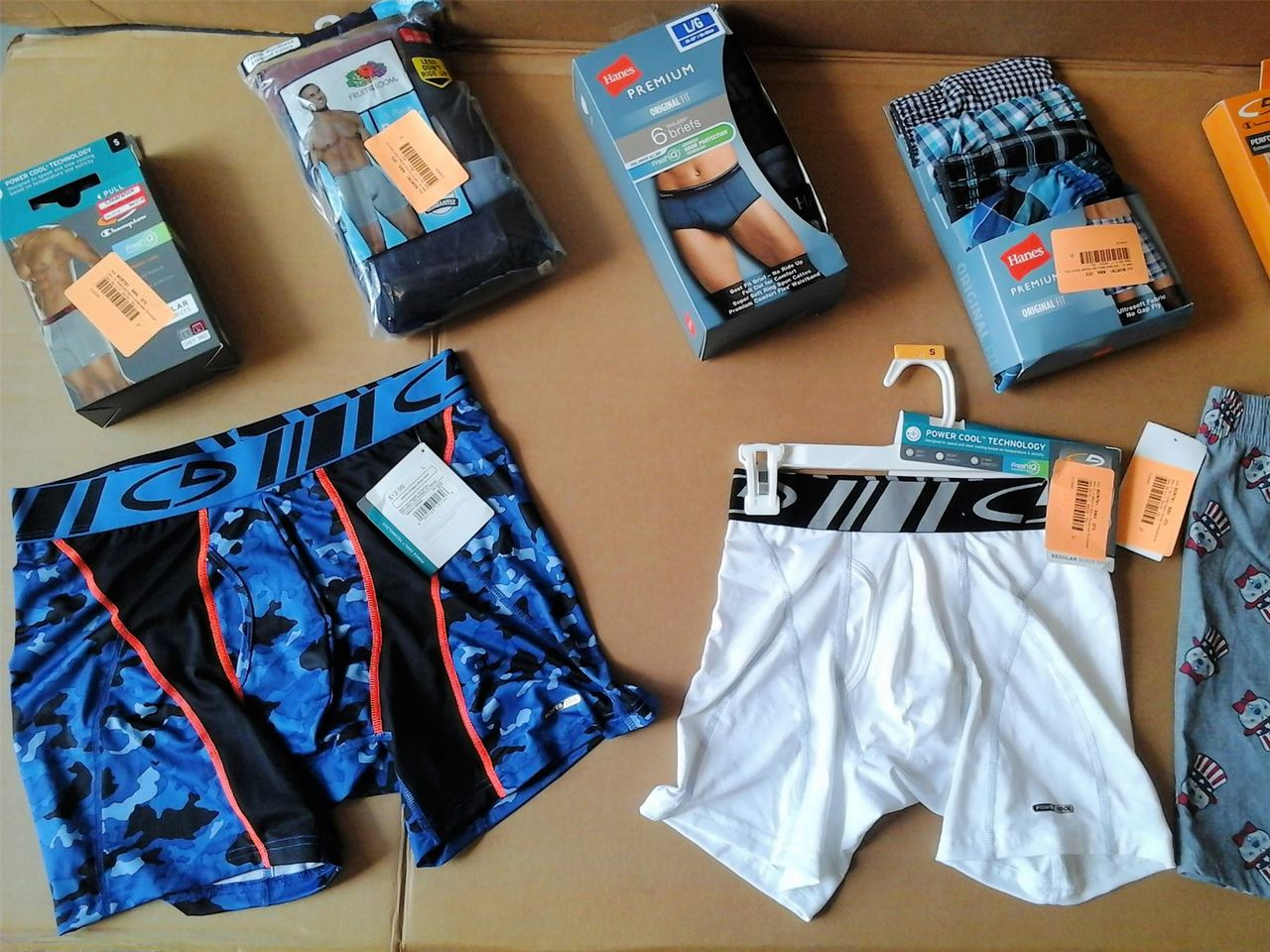 Wholesale Lot of Mens UNDERWEAR Boxers Briefs Hanes Champion More Brand New