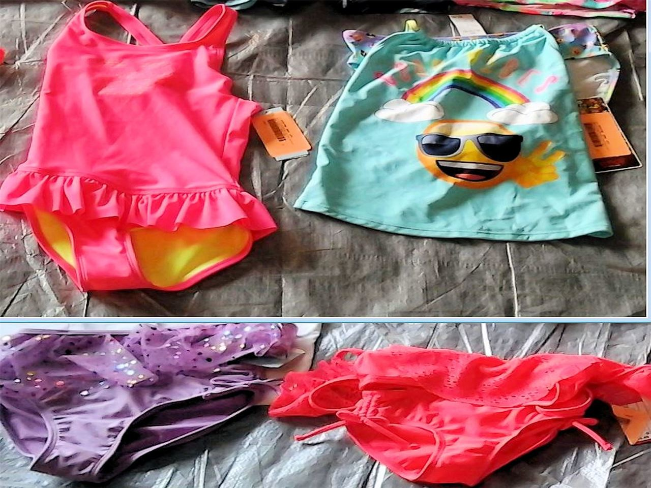Wholesale Lot of 51 Children Girl Swimsuits Swimwear BIKINI One Piece Brand New