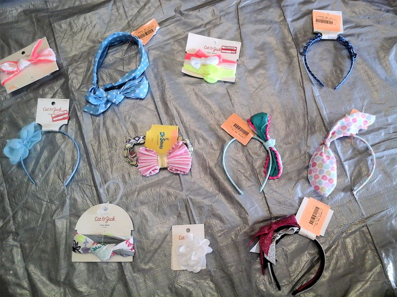 Wholesale Lot of 67 Children Girl Headbands HAIR Wraps Clips Bandanas Brand New